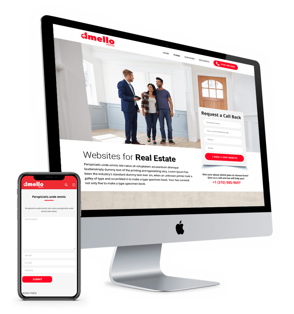 Mockup Websites for Real Estate