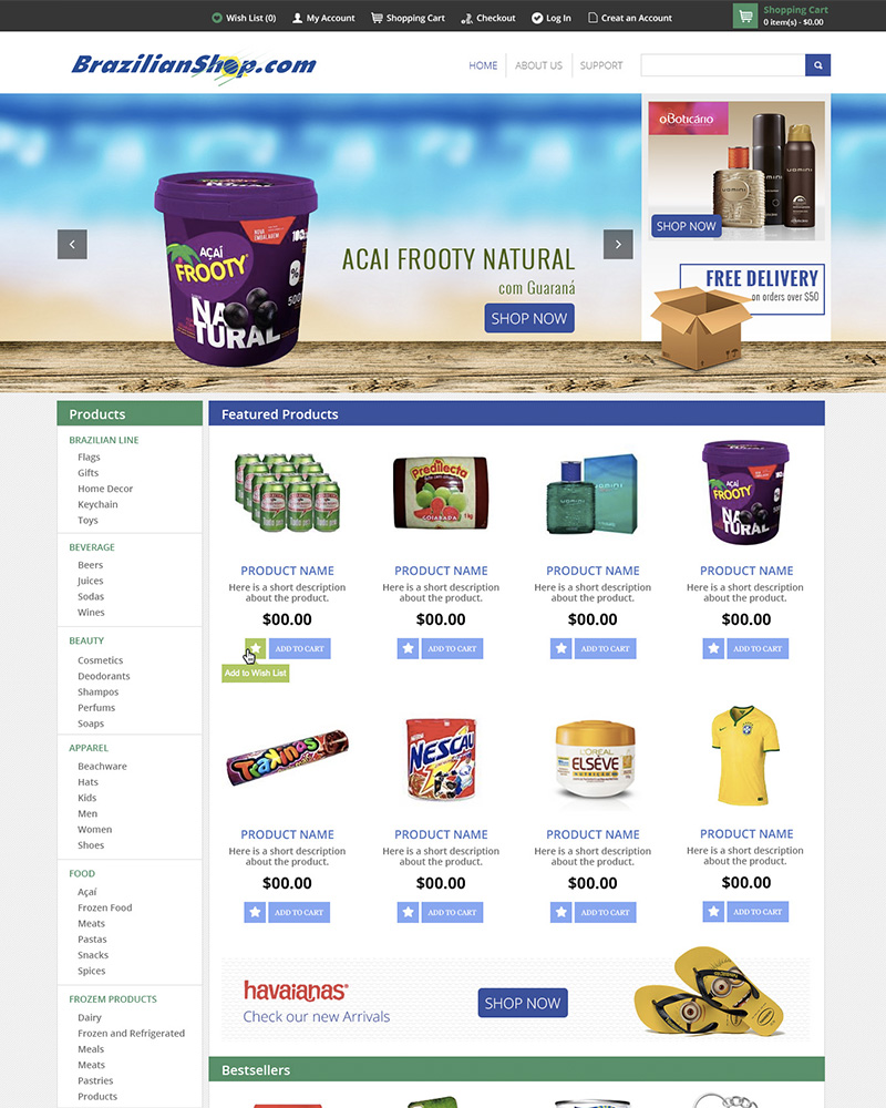 Portfolio Web Design Brazilian Shop