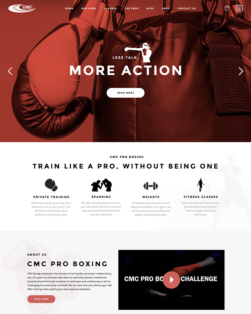 Portfolio Web Design CMC Pro Boxing